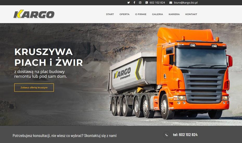 Strona internetowa Kargo